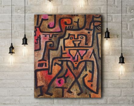 Paul Klee: Forest Witches. Fine Art Canvas.